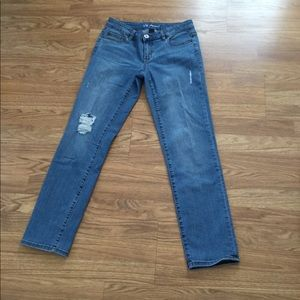 Victoria Secret's Pencil Distressed Skinny Jeans